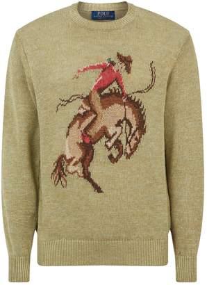 Polo Ralph Lauren Linen-Silk Cowboy Sweater
