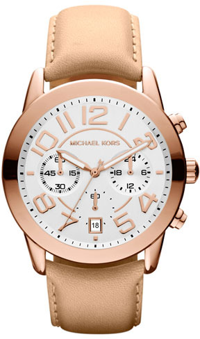 MICHAEL Michael Kors Michael Kors 'Mercer' Chronograph Leather Strap Watch