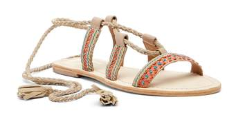 Seychelles In Flight Beaded Lace-Up Leather Sandal