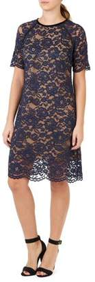 ABS by Allen Schwartz COLLECTION Women's Short Sleeve Lace Dress