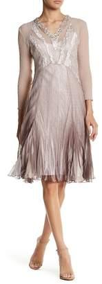 Komarov Embellished V-Neck Dress