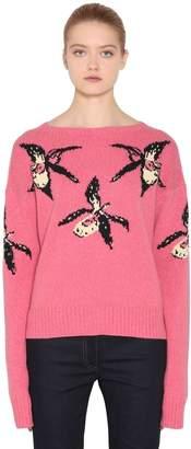 Prada Orchid Intarsia Cashmere &wool Sweater