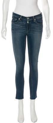Rag & Bone Mid-Rise Skinny Cut-Off Jeans