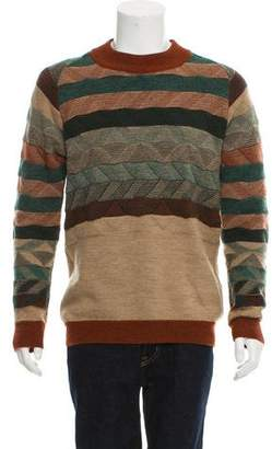 White Mountaineering Patterned Wool Sweater