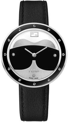 Fendi watch with fur appliqué