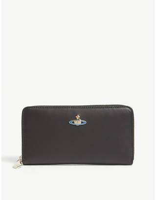 Vivienne Westwood Saturn Orb nappa leather continental wallet