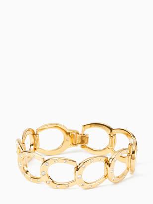 Kate Spade WILD ONES horseshoe link bracelet