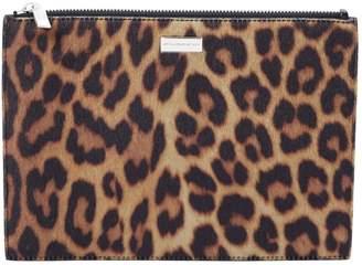 Stella McCartney Stella Mc Cartney Brown Synthetic Clutch Bag