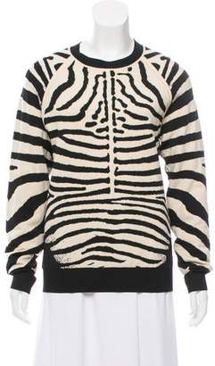 A.L.C. Crew Neck Animal Print Sweater