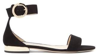 Jimmy Choo Jaimie Suede Sandals - Womens - Black