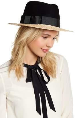 Kate Spade Colorblock Wool Crown Fedora