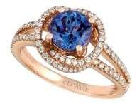 LeVian Le Vian Blueberry Tanzanite and 14K Strawberry Gold Ring