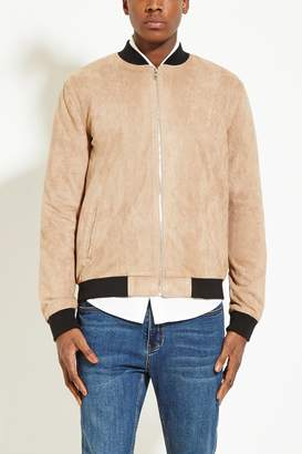 Forever 21 Faux Suede Bomber Jacket