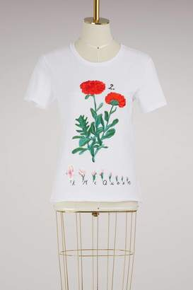 Alexander McQueen Botanical embroidered T-shirt
