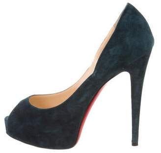 Christian Louboutin Suede Very Prive Pumps