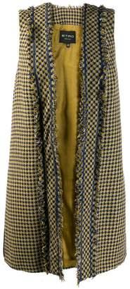 Etro woven tweed waistcoast