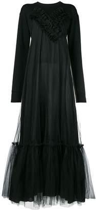 Gina ruffle embellished flared dress