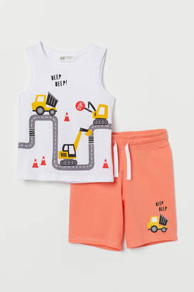 H&M Tank Top and Shorts - Orange