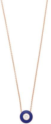 Selim Mouzannar Mina 18kt Gold, Diamond & Enamel Pendant Necklace - Womens - Blue