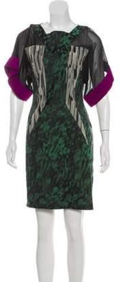 Antonio Berardi Short Sleeve Mini Dress Black Short Sleeve Mini Dress