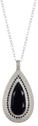 Anna Beck Sterling Silver Black Onyx Pendant Necklace