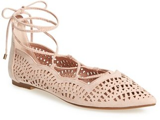Women's Topshop 'N Fase Laser' Ghillie Flat $48 thestylecure.com