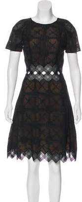 Jonathan Simkhai Lace-Accented Knee-Length Dress