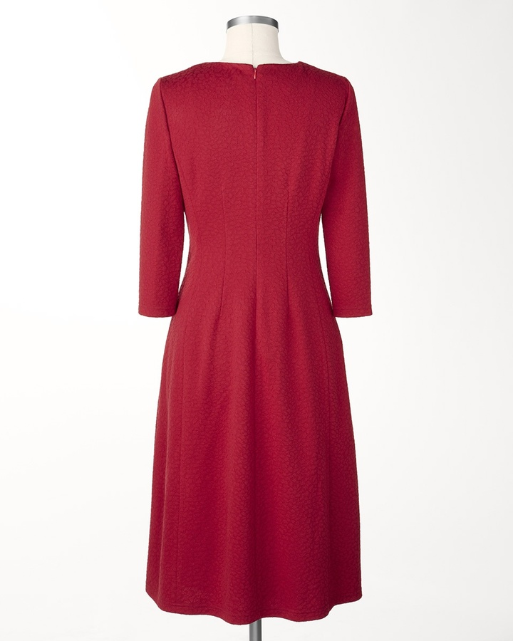 Coldwater Creek Ponte jacquard dress