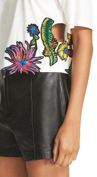 Women's 3.1 Phillip Lim Embroidered Floral Patch Tee 3