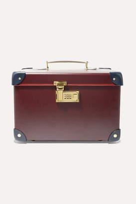 """Globe-trotter Goring 13"""" Leather-trimmed Fiberboard Vanity Case - Burgundy"""