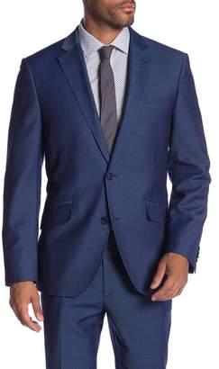 Co SAVILE ROW Mayfair Blue Two Button Notch Lapel Modern Fit Gab Jacket