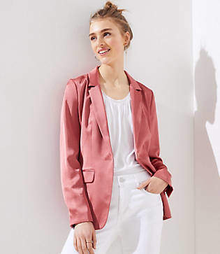 LOFT Sateen Long Blazer