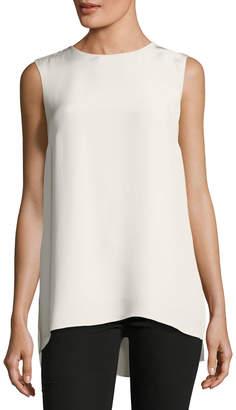 ADAM by Adam Lippes Sleeveless Silk Crepe Tunic Top
