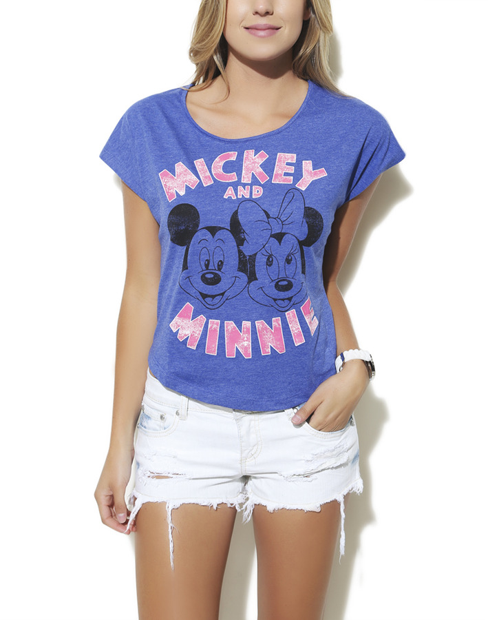 Wet Seal Mickey & Minnie Shirt