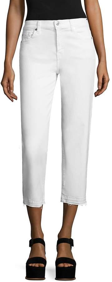 Women's Kiki Released Hem Straight-Leg Jeans - White, Size 29 (6-8)