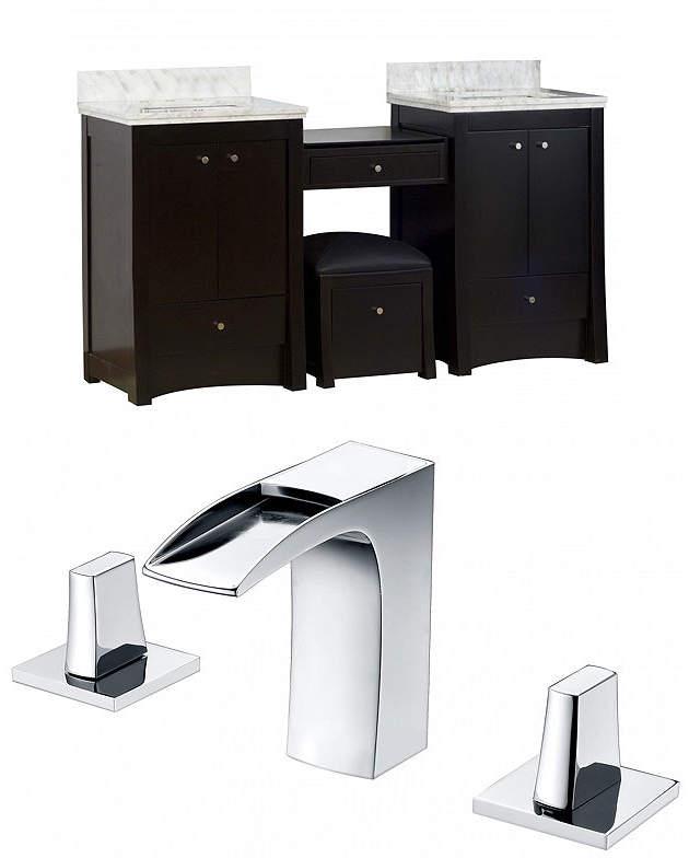 Elite Rectangle Floor Mount8-in. o.c. Center Faucet Vanity Set