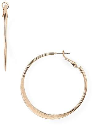 Aqua Brushed Hoop Earrings - 100%