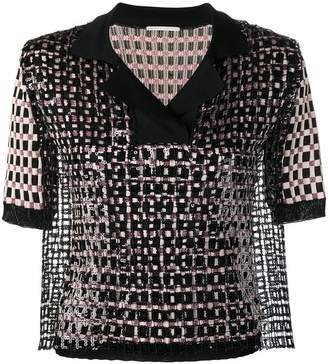 Marco De Vincenzo sequin panel knitted top