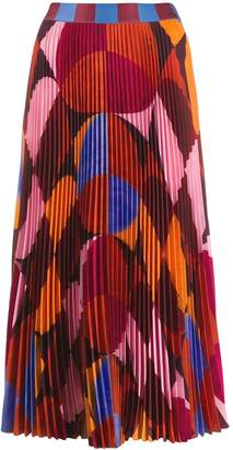 Stella Jean colour-block midi skirt