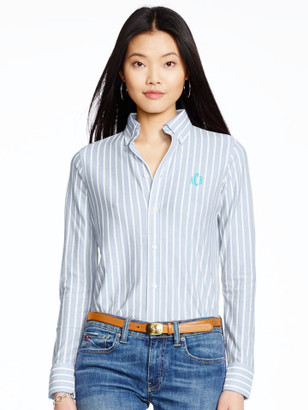 Personalization Striped Knit Oxford Shirt $98.50 thestylecure.com