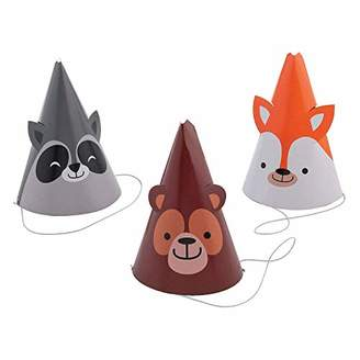 Woodland Animals Party Favor Hats - 12 ct