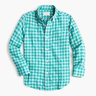 J.Crew Boys' lightweight flannel shirt in checks