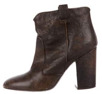 Laurence Dacade Leather Round-Toe Booties