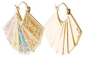 Alison Lou 14K Dollar Hoop Earrings
