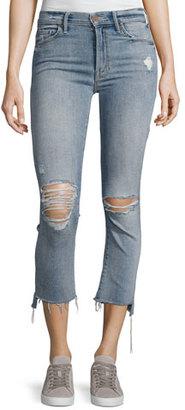 Mother Denim Insider Crop Straight Jeans, Indigo $228 thestylecure.com