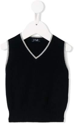 Il Gufo knitted v-neck vest