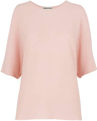 Whistles Split Shoulder Fine Knit Tee