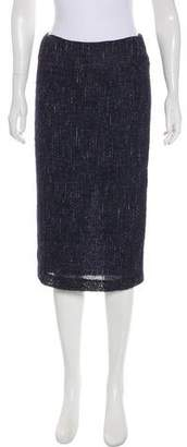 Lafayette 148 Tweed Knee-Length Skirt