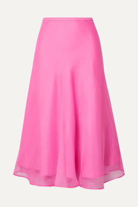 Maggie Marilyn Net Sustain Because We Can Silk-organza Midi Skirt - Pink