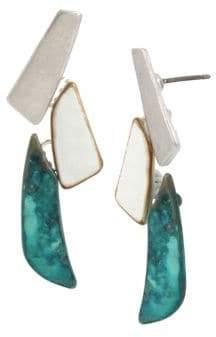 Robert Lee Morris Soho Fade Away Crystal Linear Earrings